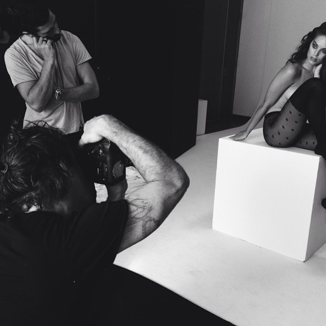 #regram back in the studio with the @calzedonia team. @pier59studios @francescocarrozzini @francogobbi1 @sergehodonou