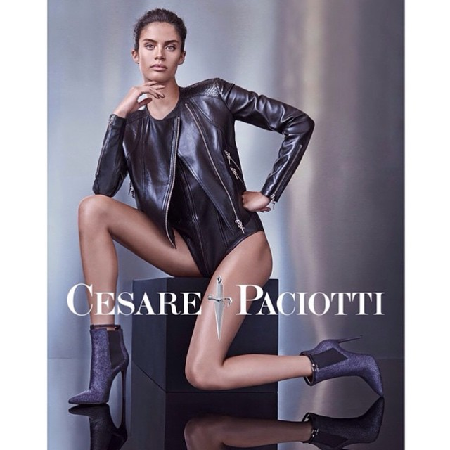 So excited to finally show u guys my new @Cesarepaciotti campaign shot by @marianovivanco make up @nikimnray hair @andylecompte styling @simonrobins1000 @thelionsny @alikavoussi