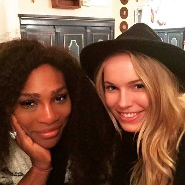 Look who I found in Denmark today @serenawilliams