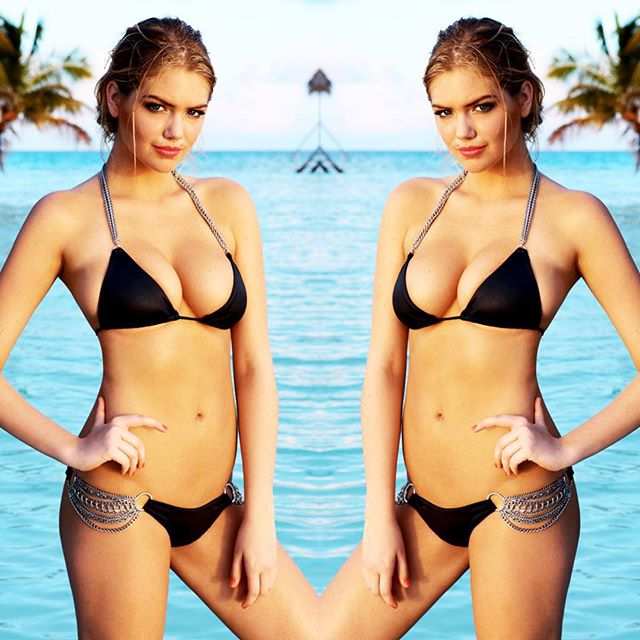Our #waybackwednesday is also our #wcw heartpulse @kateupton in 'Ball & Chain' • Available in three new styles!! #linkinbio #beachbunnybab #yutsaiphoto