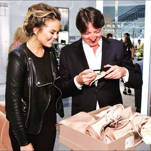 I bought a pair of @gianvitorossiofficial shoes at Barney's and freaking GR himself was there. I am a lucky bird!