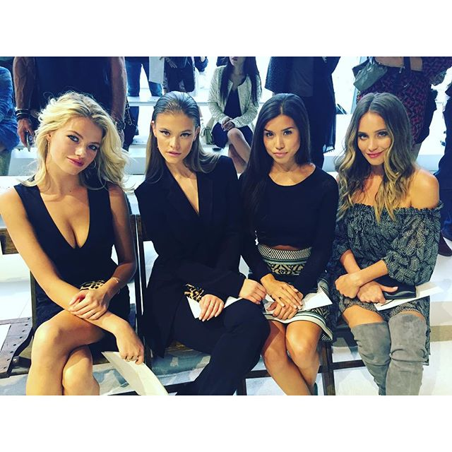 Front row at DVF with these babes I had so much fun watching the show!