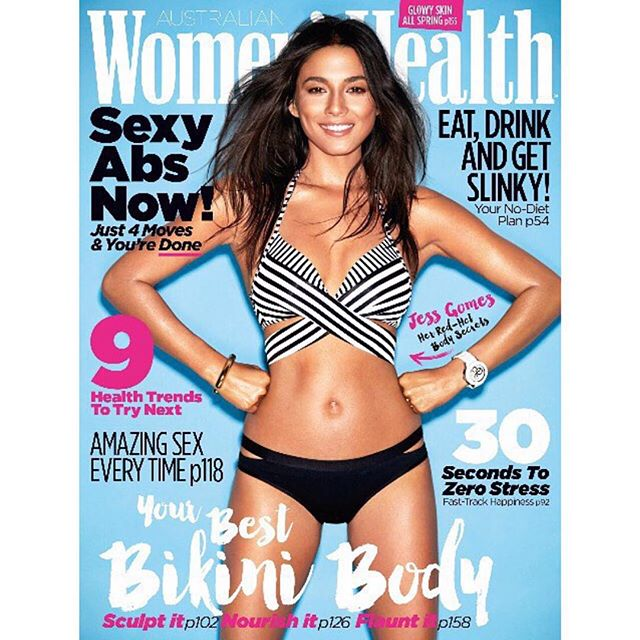 Thank you @womenshealthaus for the summer cover! OUT on STANDS tomorrow! Photographer: @stevenchee Make up: @maxmade Hair: @bradmullins_hair Wearing @jetsswimwear from @davidjonesstore