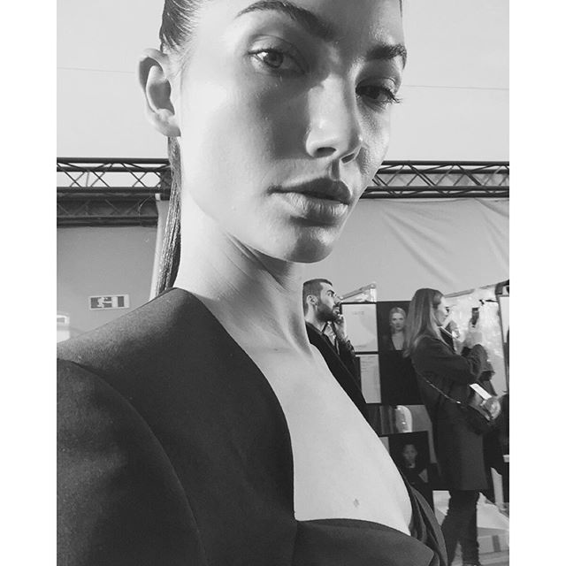 About to hit the @BalmainParis Runway So much LOVE for @Olivier_Rousteing