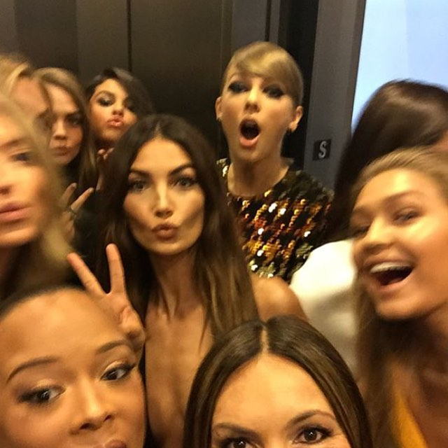@therealmariskahargitay's epic elevator selfie featuring @taylorswift and her squad topped our list of the best behind-the-scenes Instagrams from the #VMAs. Head over to instyle.com now to see them all. Link in profile. | #regram #squad #squadgoals