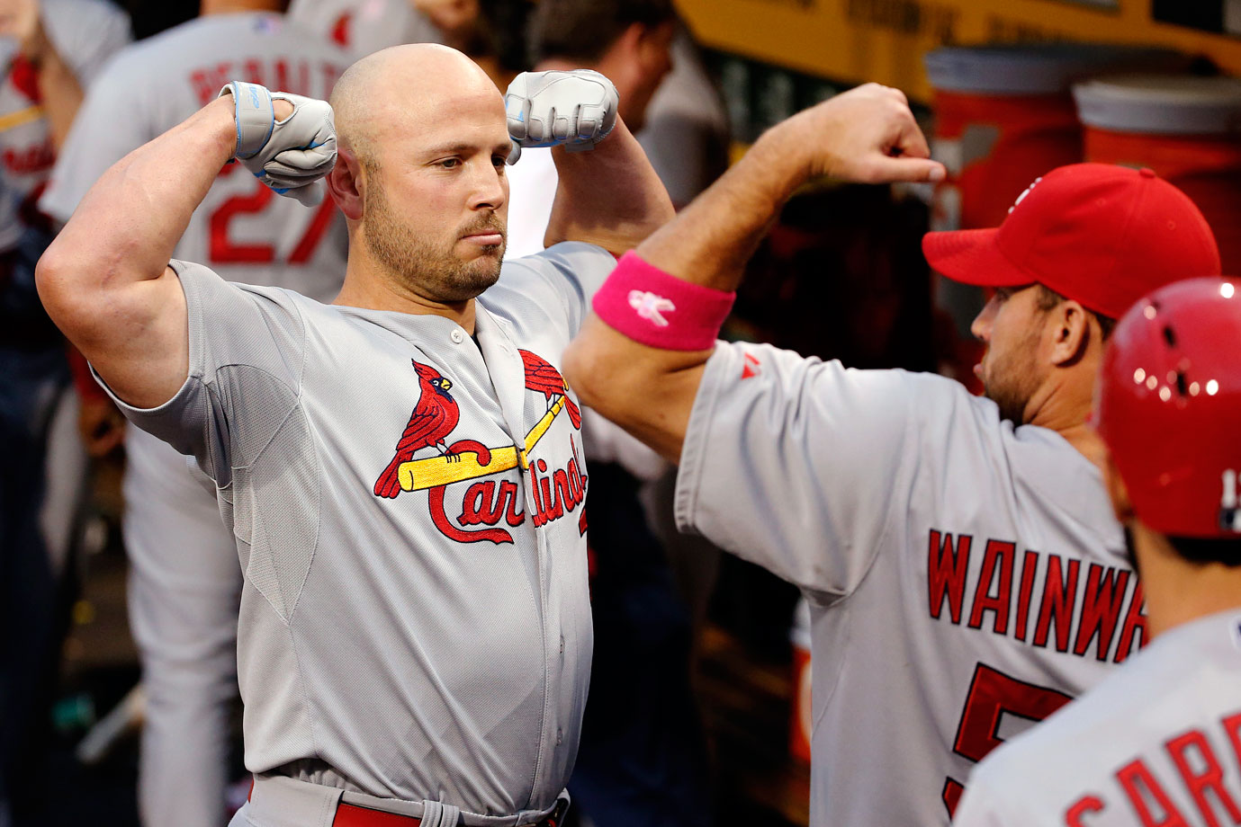 Highest salaries: Adam Wainwright ($19,500,000), Matt Holliday ($17,000,000), Yadier Molina ($15,200,000), Jhonny Peralta ($15,000,000)