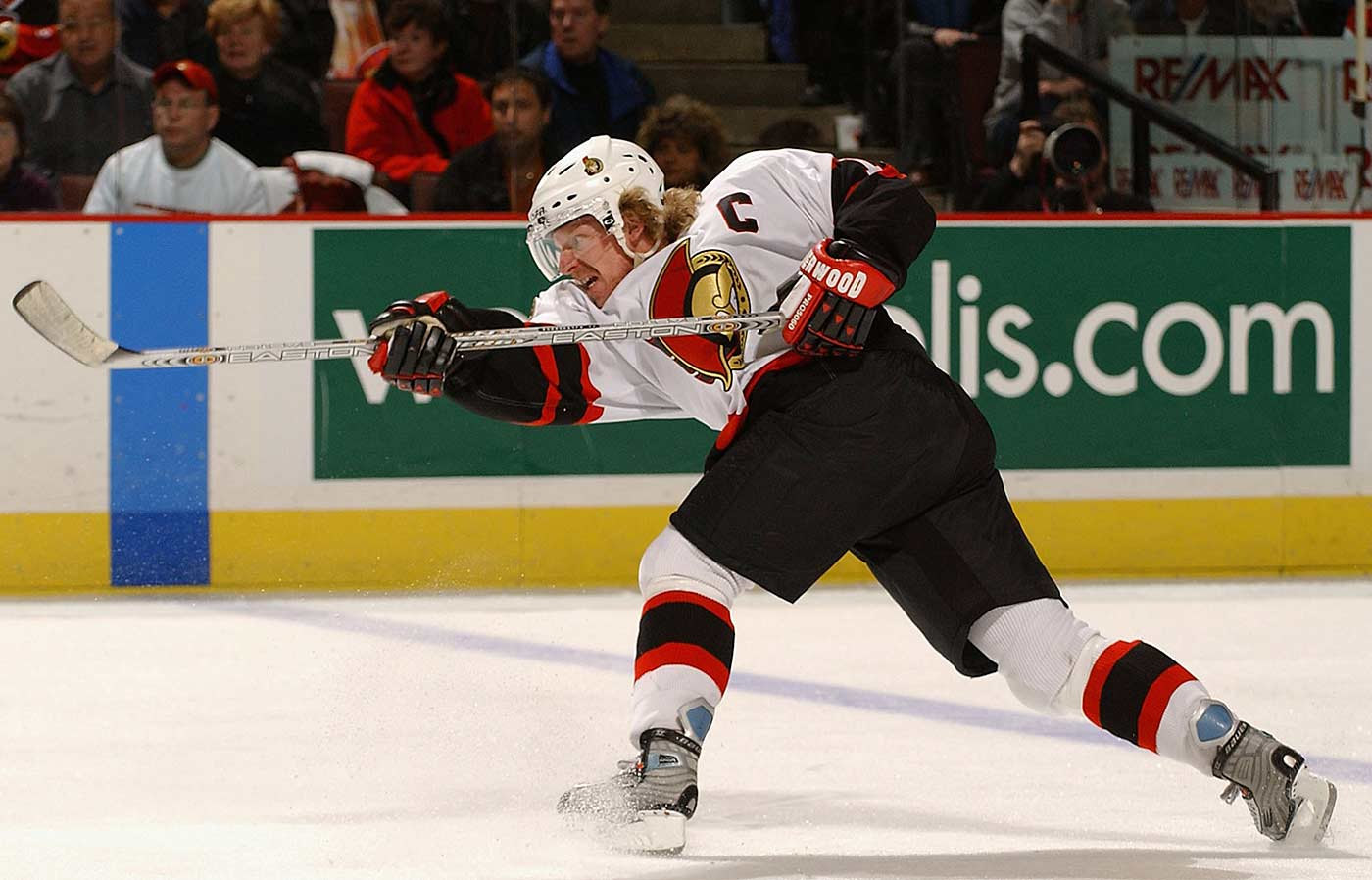 The Swedish star, who won the Calder Trophy in 1996, had produced four straight 70-point seasons and earned four All-Star Game nods with Ottawa when the lockout hit, and he picked up a career-high 103 points in 2005-06. He also won an Olympic gold medal for Sweden in 2006, one of his five appearances at the Games.