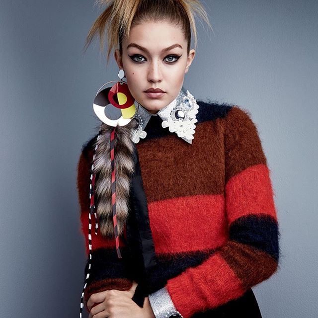 #DavyCrockett-chic. @GigiHadid stars in the latest issue of @Voguemagazine. #IMGirls | Patrick Demarchelier