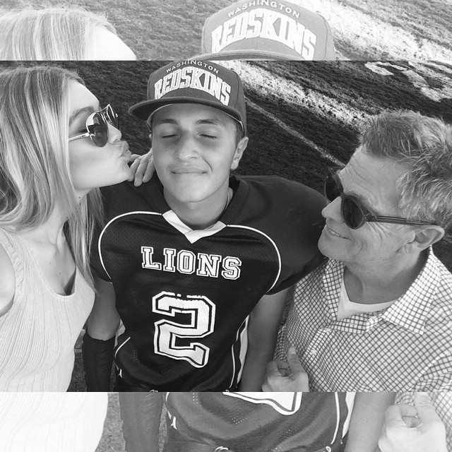 LIONS with the W today!! Proud big sis and step dad Love you @anwarhadid