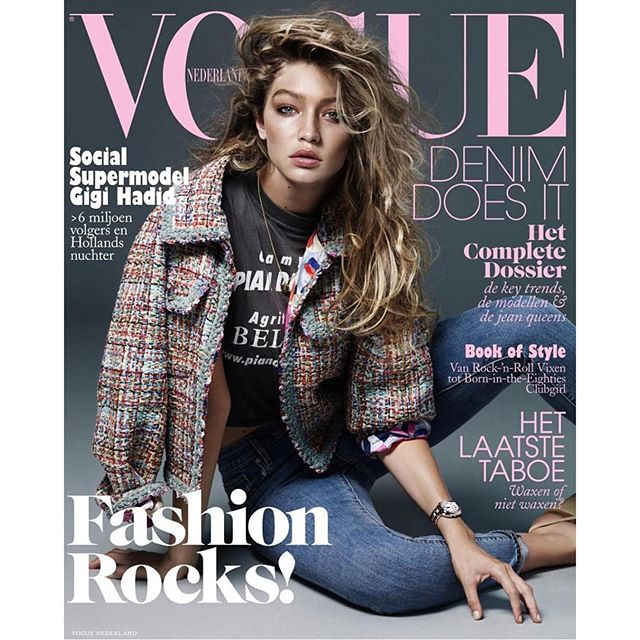My latest Vogue cover @nlvogue!! This one is dedicated to family in Holland @joannvdherik @lizzyvandenherik @ianvdherik @herik000 & my Oma! Ik hou zoveel van je!