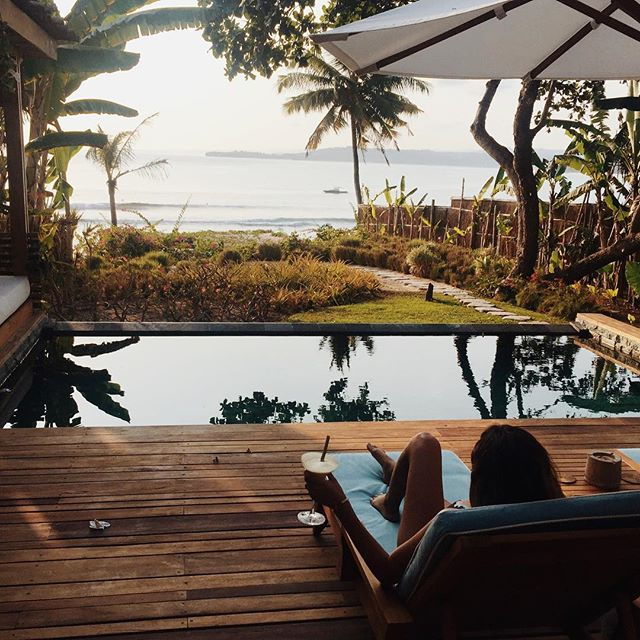 My villa @nihiwatu_resort_sumbaisland getting my views in before the @britishpoloday
