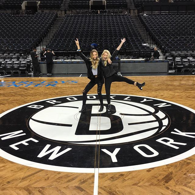 Where Brooklyn at! So fun last at the nets vs. bulls game with @hannahfergusonofficial