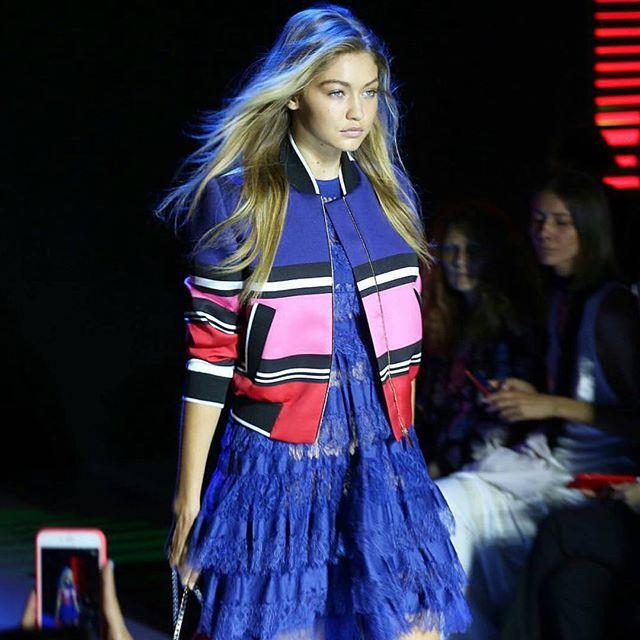 @GigiHadid today @ElieSaab. # #PFW #IMGirls | @fashiontomax