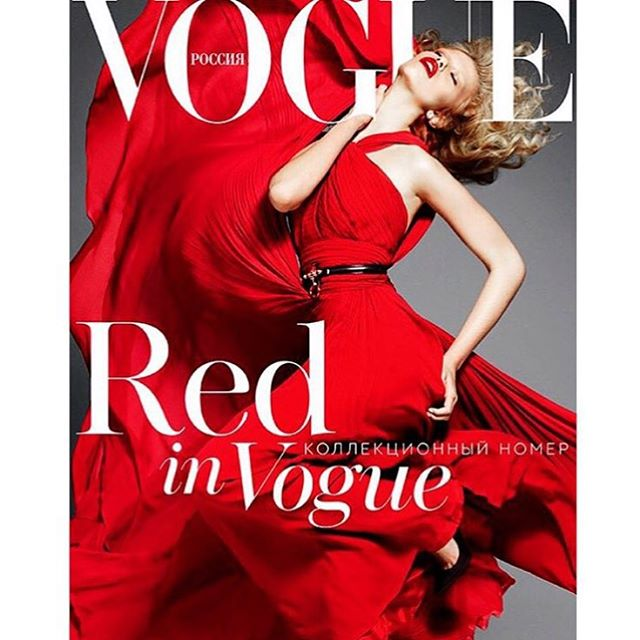 Special issue of red in vogue by @terrytsiolis from what we shot a few years ago for @voguerussia