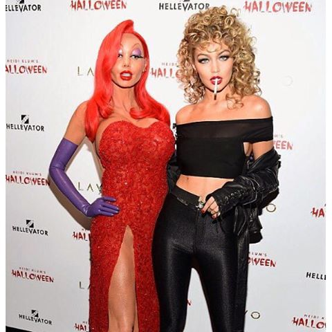 @heidiklum you legend! QUEEN OF HALLOWEEN Jessica Rabbit x Sandra Dee ;)