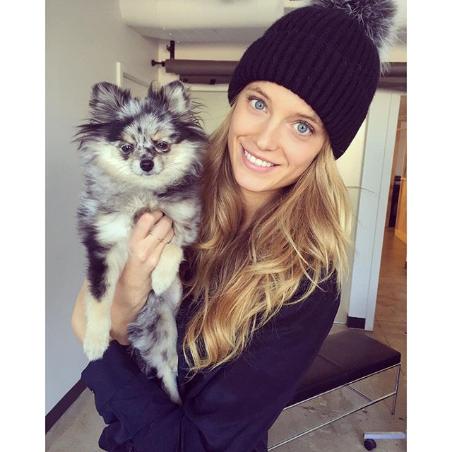 Twinning so hard right now #puppymeetspompom