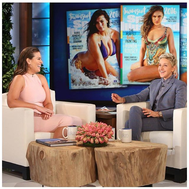 Watch @theellenshow TODAY to see what she surprises me with!! #siswim #beautybeyondsize