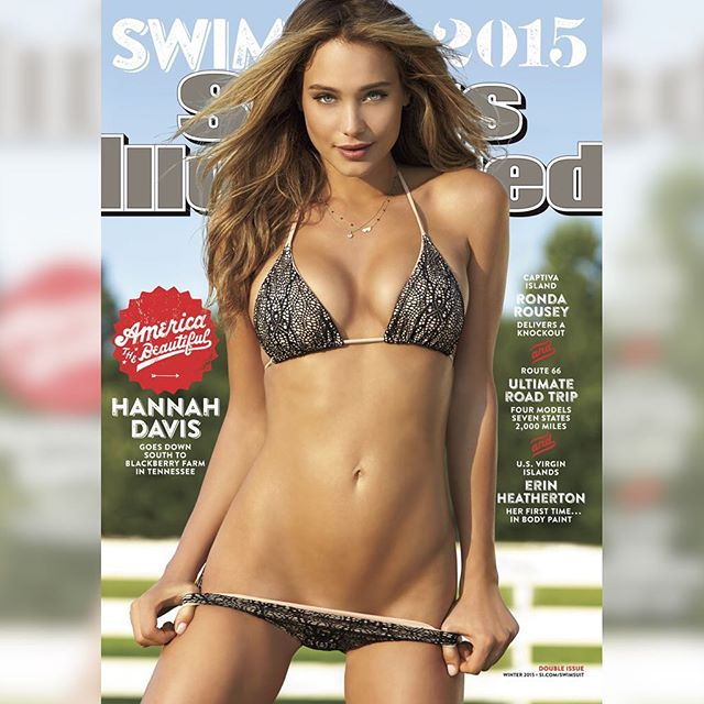 Derek Jeter is a lucky guy! @hanni_davis is smart, beautiful, and our 2015 cover model! Read the story on Swim Daily now (link in bio)! ring #siswim