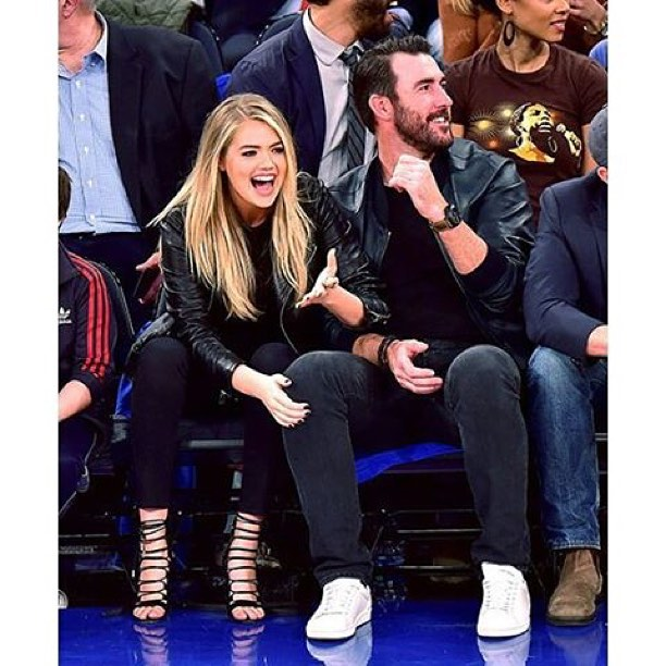Flashback to the @nyknicks game with @justinverlander!
