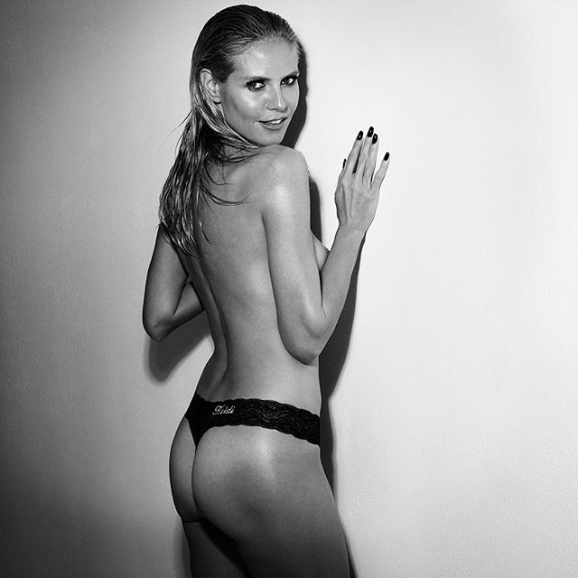Love being cheeky in my @heidiklumintimates