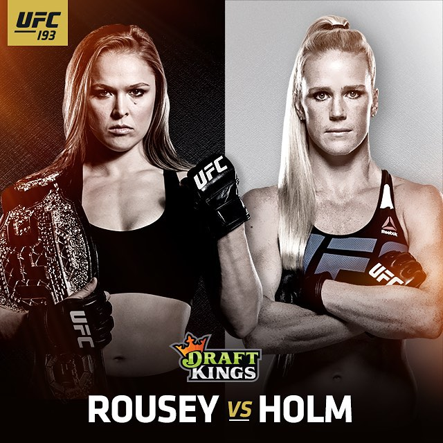 #RouseyVSholm is my next step to #retireundefeated. Pick me in your @DraftKings lineup to show your support and win some cash! Link in bio. Link: http://dkng.co/UFC193IG
