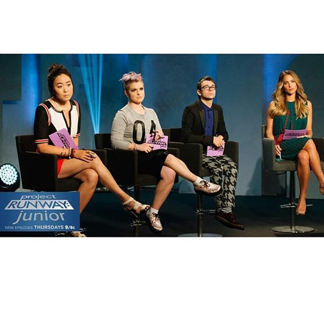 Looking veryyy serious! Tonight #ProjectRunwayJunior 9/8pm on @lifetimetv and special guest #FLOTUS !