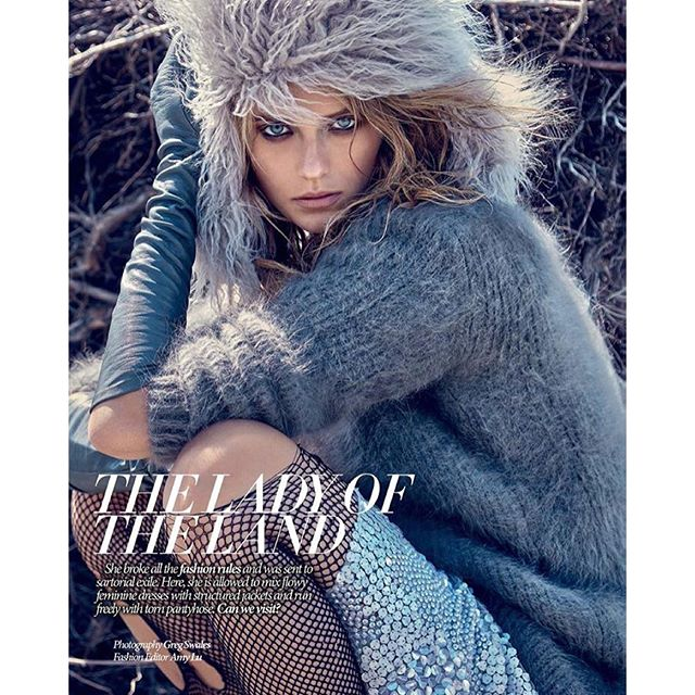 "New editorial ""Lady of the Land"" for @dresstokillmagazine, by @gregswalesart styled by @amylustyle #hair & #makeup by @sheristroh #katebock #vancouver #wolfpack #dresstokillmagazine Full on #whitewalker mode."