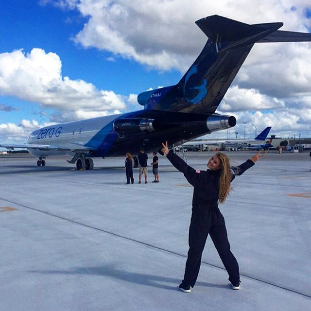 "Today was epic! Check out my snapchat ghost ""Ninagdal"" to see me fly, literally.. rocket @gozerog #ZeroG, #butsoG"