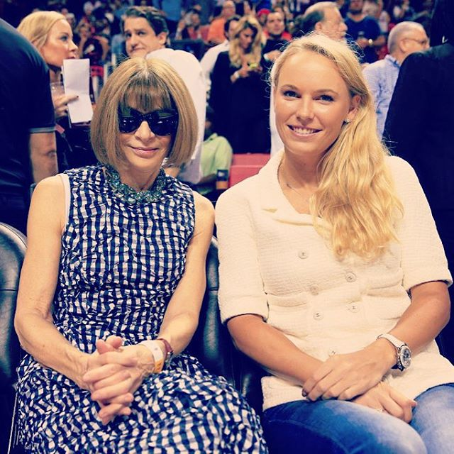 About last night! #heatgame #annawintour