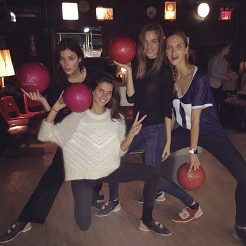 New bowling team! #girlpower @sadienewman1 @abimfox @mirtemaas