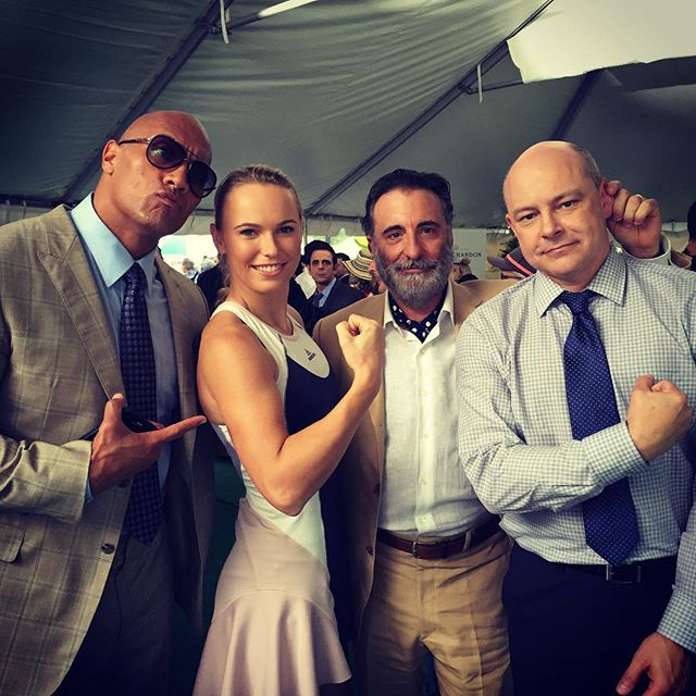 Ballin on set with the #Ballers today! Thank you guys for having me! Had a blast!! @therock #andygarcia #robcorddry