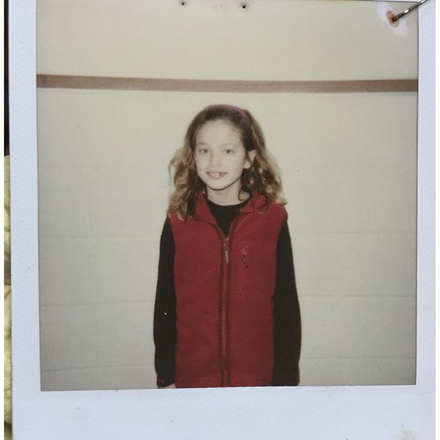 A #waybackwednesday being little and awkward  #polaroid