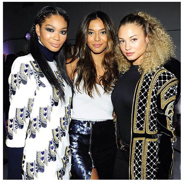 Last night with my babies @chaneliman @heidydelarosa