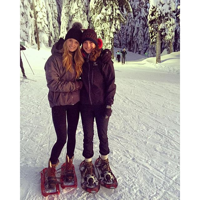 Sisters gone snowshoeing