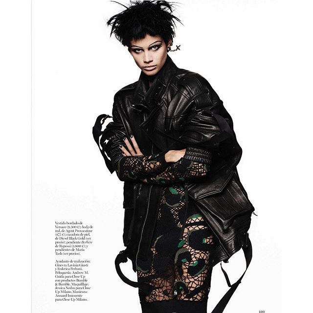 Got to be a Punk for the February issue of @voguespain shot by @giampaolosgura and styled by @marnau @thelionsny