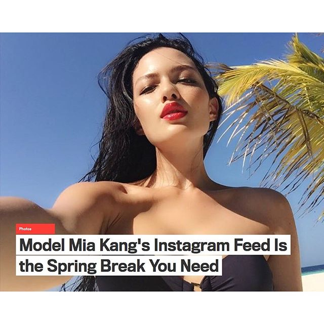 @GQ's latest discovery on @instagram is our girl @missmiakang Get to know Mia now on www.gq.com #TrumpModels #MiaKang #GetToKnow #GQ #bondgirl #springbreak