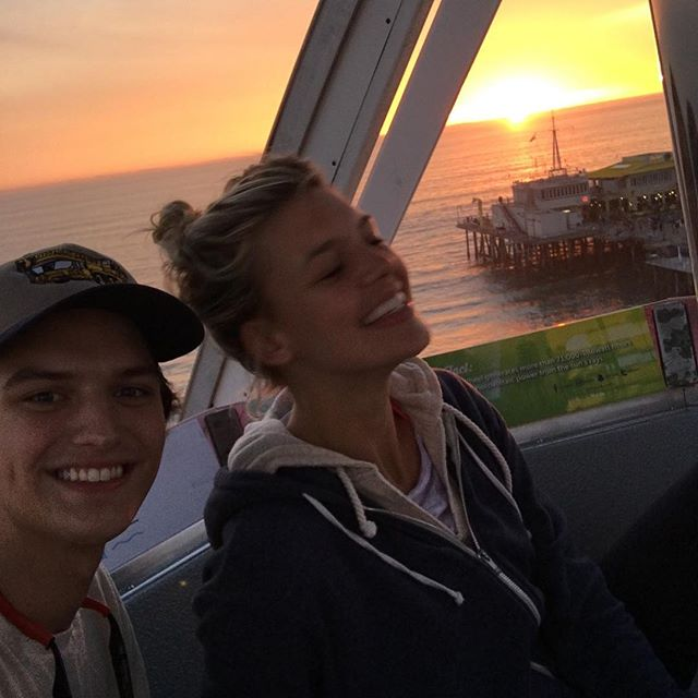 I've been trying to ride the Santa Monica Ferris wheel since I first moved to Cali 3 years ago... Little bro making it happen for my birthday yesterday #sosweet #lowkeyandlovingit