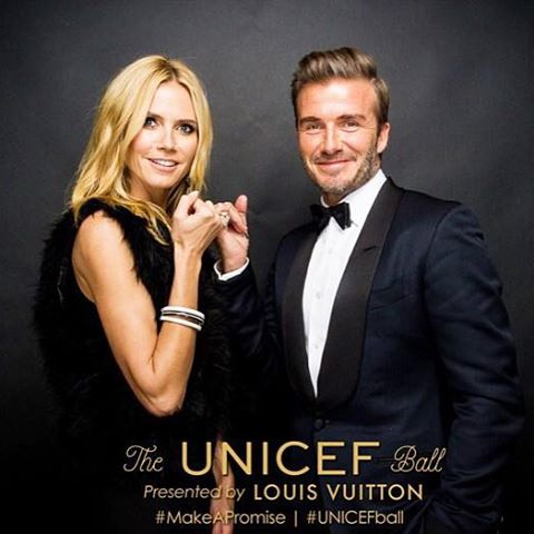 Honored to be a part of @unicefusa #unicefball honoring @davidbeckham. #makeapromise