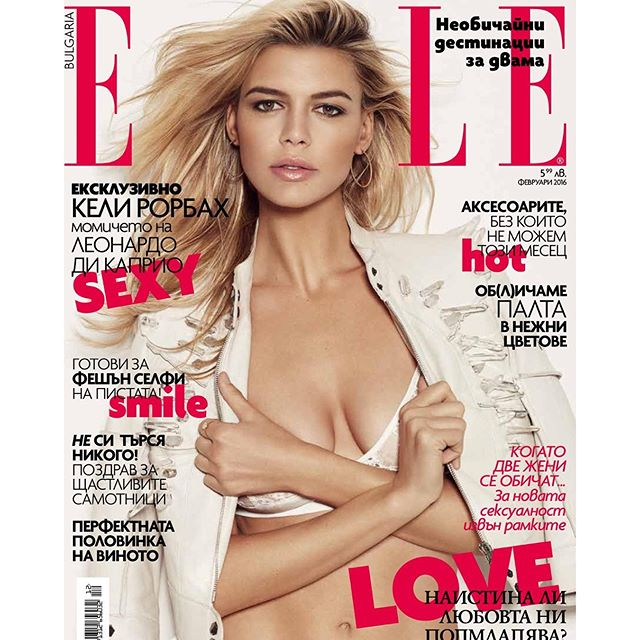 #Baywatch Babe @KellyRohrbach covers the latest issue of @Elle.Bg. #IMGstars