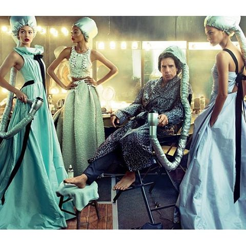 Deep Conditioning. @GigiHadid @JoanSmalls + Derek @Zoolander star in the latest issue of Vogue. Annie Leibovitz