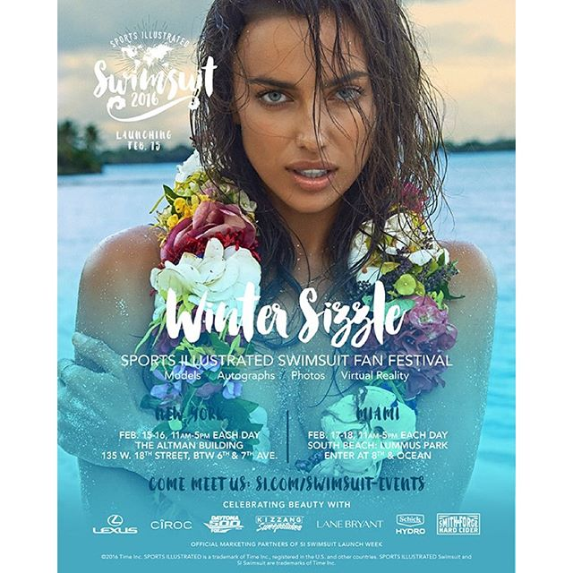 The 2016 issue is almost here! Join us at the #SISwim 2016 Fan Festivals in New York City (February 15 & 16) and Miami (February 17 & 18). Details on Swim Daily (link in bio)!