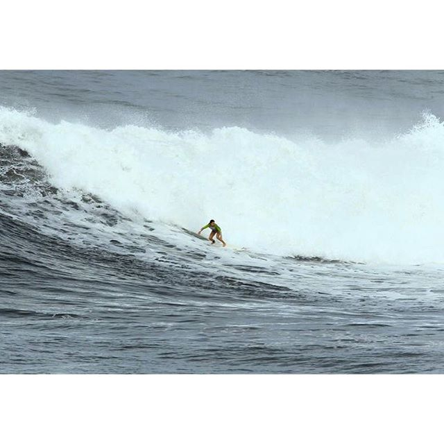 Throwback to one of the first waves I ever caught at Waimea in honor of the Eddie running today! Excited to see all the guys at the #Eddieaikau today #EddieWouldGo
