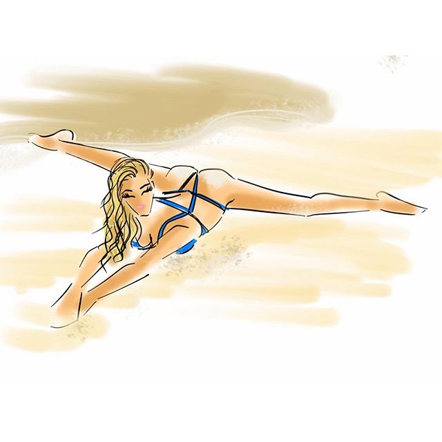 Get ready for a sneak preview of the #SISwim 2016 issue! Leading up to Launch Week we'll be sharing pages from the magazine in sketches. Can you guess who this is? art by @emilybrickel for @chicsketch