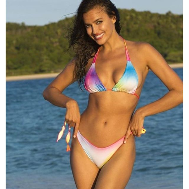 We continue down our Sports Illustrated Swimsuit memory lane in anticipation of the 2016 issue out next week. Here @irinashayk in custom dyed Indie Soul for @si_swimsuit #model #siswim #irinashayk #bikinis #beach #miami #photooftheday #swimwear