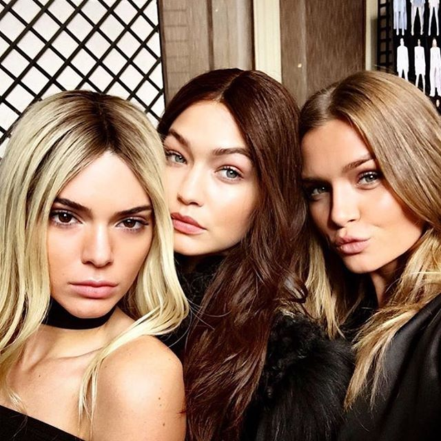 The wig situation at @balmain was definitely LIT. #BalmainHairArmy #kendalljenner #gigihadid #josephineskriver