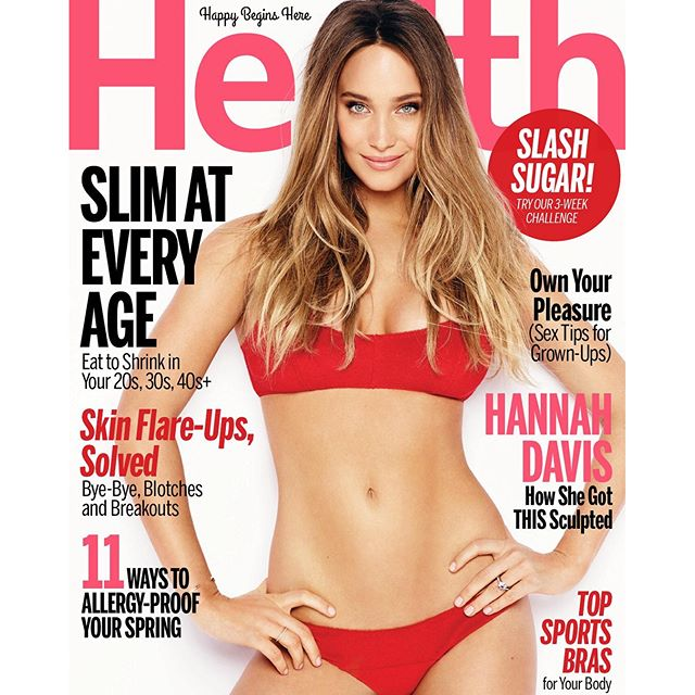 RED HOT Say hello to our April #HealthCoverStar, @hanni_davis! Click the link in our bio or go to Health.com to see how she got THIS sculpted! (@jameswhitefoto)