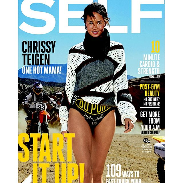 So excited to be on the cover of @selfmagazine this month shot by theeeee @gilles_bensimon! Thank you so much, Self! A bible of mine for so many years!!! I felt like such a badass this day - I can still taste the dirt