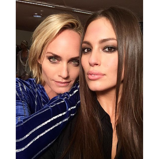 The beautiful and iconic @ambervalletta after the @hm show. #beautybeyondsize