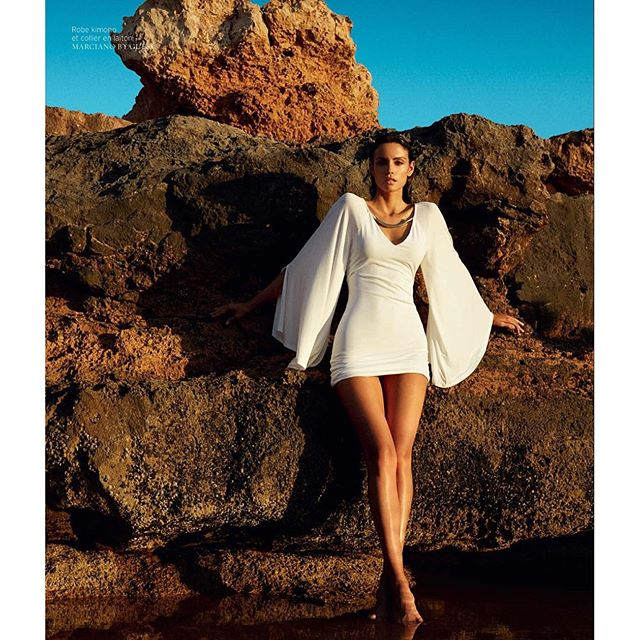 New issue of @frenchrevuedemodes is out Photo @thierrylegouesofficial Styling @marcell_rocha Team power Location: Ibiza