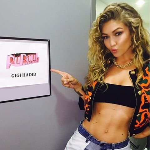 Watch my girl @gigihadid guest judge the snatch game tonight on @rupaulsdragrace @logotv Hair @jrugg8 makeup @allanface @moschino #gigihadid #bumbleandbumble #rupaulsdragrace
